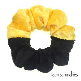 Team scrunchie Geel/Zwart