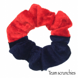 Team scrunchie Rood/Donkerblauw