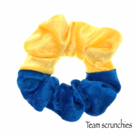 Team scrunchie Geel/Kobaltblauw