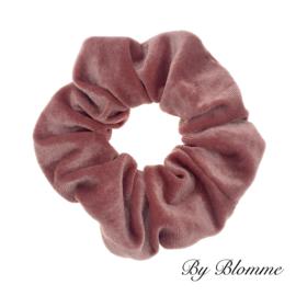 Scrunchie roze velvet