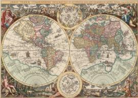 Art Puzzle - Antieke Wereldkaart - 260XL stukjes
