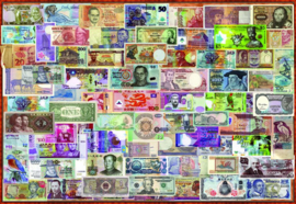 Educa - Bankbiljetten van over de Wereld - 1000 stukjes