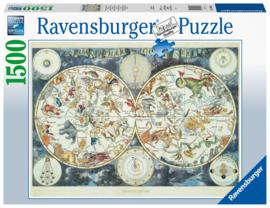 Ravensburger - Wereldkaart met Fantastierijke Dieren - 1500 stukjes
