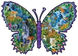 SunsOut 95571 - Rainforest Butterfly - 1000 stukjes  Vormpuzzel