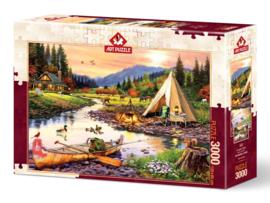 Art - Camping Friends - 3000 stukjes