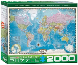 Eurographics 0557 - Map of the World - 2000 stukjes