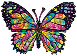 SunsOut 97260 - Stained Glass Butterfly - 1000 stukjes Vormpuzzel