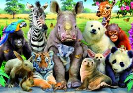 Educa - Dieren op de Klassenfoto - 300 stukjes