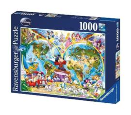 Ravensburger - Disney Wereldkaart - 1000 stukjes