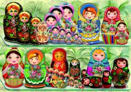 Bluebird - Matryoshka Dolls - 1000 stukjes