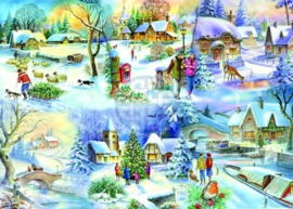 House of Puzzles - Snowy Afternoon - 500XL stukjes