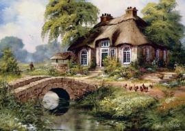 Art Puzzle  - Green Village - 500 stukjes
