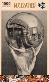 Puzzelman M.C.Escher - Hand met Spiegelende Bol - 1000 stukjes