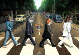 Art Puzzle - Cat Road - 1000 stukjes