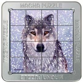 TFF 3D Magna Puzzle Small - Snow Wolf - 16 stukjes