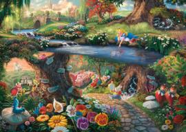 Disney Thomas Kinkade - Alice in Wonderland - 1000 stukjes