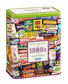 Gibsons 3833 - 1980's Sweet Memories - 500 stukjes -Gift Blik