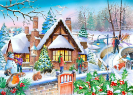 House of Puzzles - Snowy Cottage - 250XL stukjes