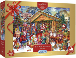 Gibsons 2020 - This Way to Santa - 1000 stukjes  (Limited Edition)