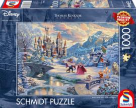 Disney Thomas Kinkade - Belle en het Beest, Winter - 1000 stukjes