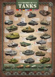 Eurographics 0381 History of Tanks - 1000 stukjes