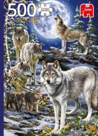 Jumbo - Wolf Pack in Winter - 500 stukjes