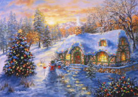 Bluebird - Christmas Cottage - 2000 stukjes