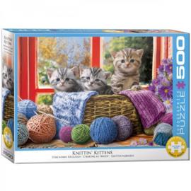 Eurographics 5500 - Knittin' Kittens - 500XL stukjes