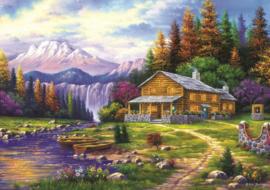 Art Puzzle 4230 - Sunset in the Mountains - 1000 stukjes
