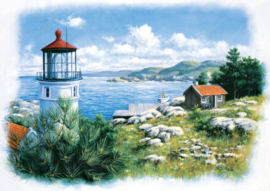 Art Puzzle - Lantern on the shore - 500 stukjes
