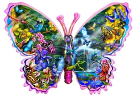 SunsOut 95234 - Butterfly Waterfall - 1000 stukjes  Vormpuzzel