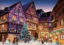 Piatnik - Vintage Christmas Village - 1000 stukjes