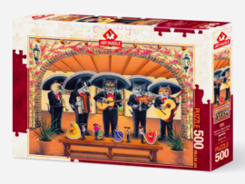 Art Puzzle - Flamenco Meow Team - 500 stukjes