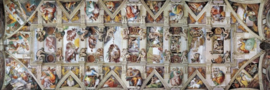 Eurographics Michelangelo - The Sistine Chapel Ceiling - 1000 stukjes  Panorama