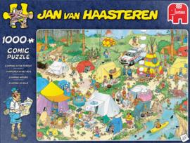 Jan van Haasteren - Kamperen in het Bos - 1000 stukjes