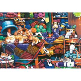 Master Pieces - Knittin Kittens - 1000XL stukjes