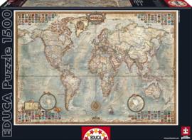 Educa - Wereldkaart - 1500 stukjes