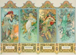 Eurographics Alphonse Mucha 0824 - Four Seasons - 1000 stukjes