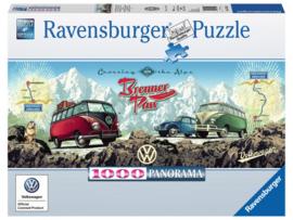 Ravensburger - VW Bulli op de Brennerpas - 1000 stukjes  Panorama