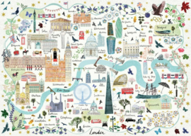 Gibsons 6606 - Map of London - 1000 stukjes