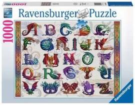 Ravensburger - Drakenalfabet - 1000 stukjes