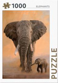 Rebo - Elephants - 1000 stukjes