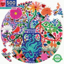 eeBoo - Birds and Flowers - 500 stukjes