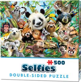 TFF Dubbelzijdige Selfie puzzel - Jungle - 500 stukjes