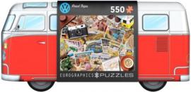 Eurographics - VW Road Trips - 550 stukjes  Tin Box
