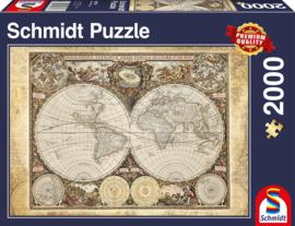 Schmidt - Historische Wereldkaart - 2000 stukjes