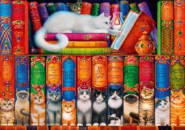 Bluebird - Cat Bookshelf - 1000 stukjes