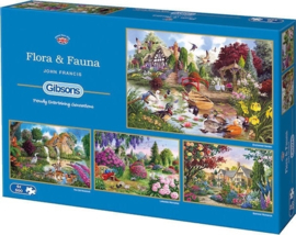 Gibsons 5025 Flora & Fauna 4x500 stukjes