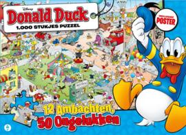 Just Games Disney Donald Duck 1 - 12 Ambachten, 50 Ongelukken - 1000 stukjes