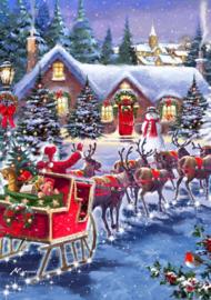 Bluebird - Santa and Sleigh - 1000 stukjes